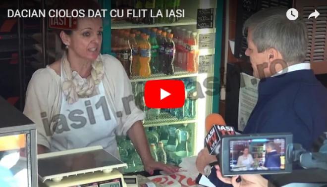 Cioloș, UMILIT de o vânzătoare: 'Gata! Că îmi pierd timpul meu și pierd clienți' - VIDEO