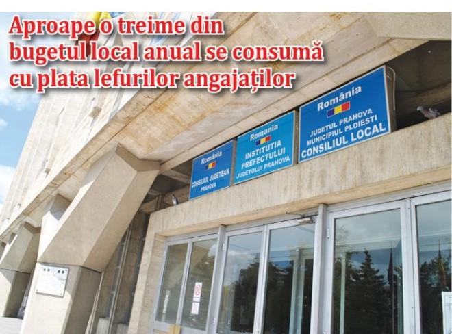5.000 DE LEI, salariul mediu in Primaria Ploiesti