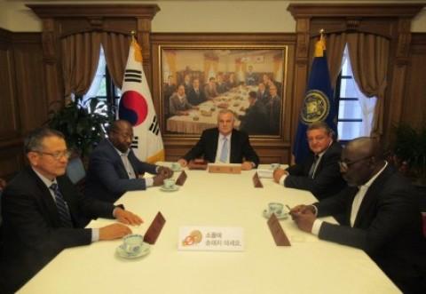 Presedintele CCI Prahova, Aurelian Gogulescu, vizita in Coreea