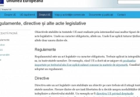 Site-ul oficial al Uniunii Europene: Recomandările Comisiei nu sunt obligatorii