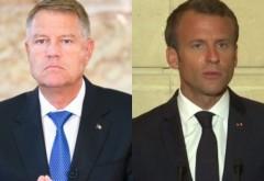 Iohannis: Rușine jandarmilor - Macron: Felicit jandarmii, rușine agresorilor!