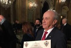 """Mircea Cosma a primit Diploma """"Academicianul Anului 2018"""" din partea Academiei Europene pentru Relaţii Economice şi Culturale (AEREC) de la Roma"""