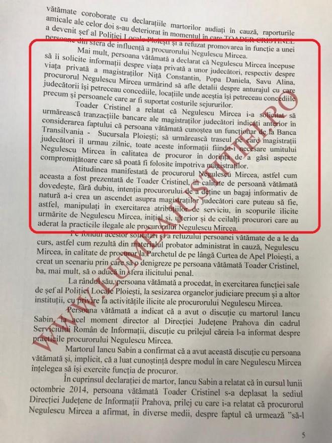 """DOCUMENT/ Lista judecatorilor pe care i-a vânat procurorul """"Zdreanta"""""""