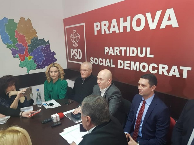Conferinta de presa la PSD Prahova. Stefanescu si Nicolicea au venit la Ploiesti