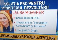 SURSE/ Laura Moagher, propunerea PSD pentru Ministerul Dezvoltarii