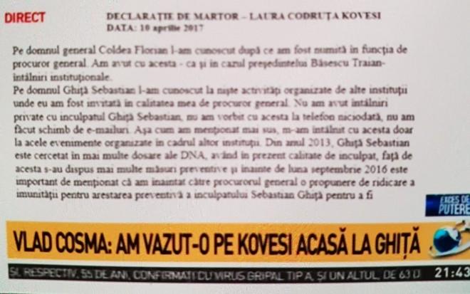 Vlad Cosma: Am organizat petrecerea din crama. Am vazut-o pe Kovesi acasa la Ghita