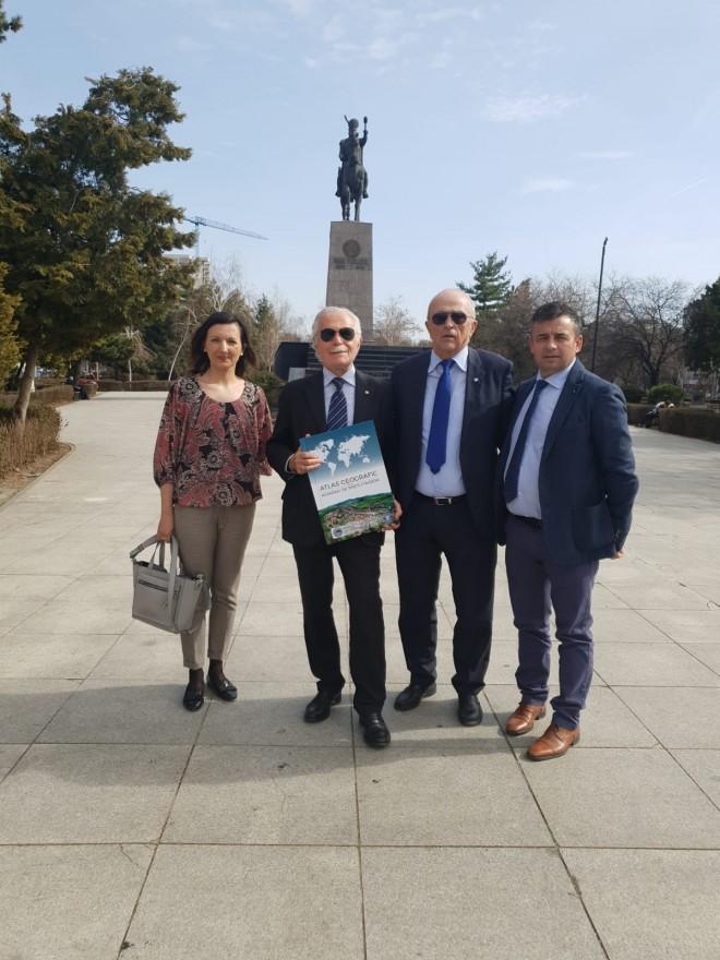 Presedintele Academiei Europene, Ernesto Carpintieri, intalnire cu Mircea Cosma si oficiali de la Bucuresti