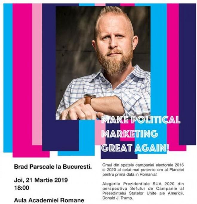 """""""Geniul"""" Brad Parscale a venit la Bucuresti. Vlad Cosma, printre cei 30 de invitati speciali"""