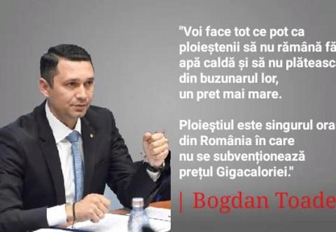 Bogdan Toader, CJ Prahova: Ploiestiul este singurul oras din tara unde Primaria nu subventioneaza gigacaloria