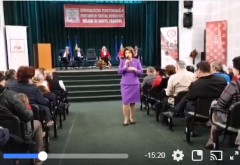 VIDEO/ Rovana Plumb, discurs la Valenii de Munte