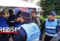 #Rezistenții instigă jandarmii și se tăvălesc pe jos – VIDEO