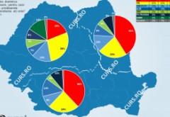 Cum votează româniI: PSD domină Moldova și Sudul. PNL se chinuie sa ia Ardealul