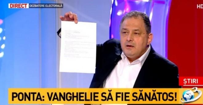 DCNews: Vanghelie, la Antena 3: ''Ponta le lua banii oamenilor de afaceri''