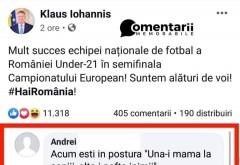 Cea mai buna gluma din ultimul timp! Ironie la adresa lui Iohannis, in contextul meciului Germania-Romania U21