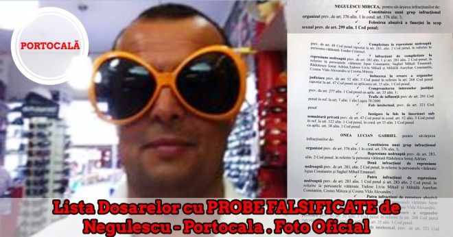 BREAKING/ Avem lista oficiala a dosarelor FALSE lucrate de Onea, Portocala&gasca. Jale mare si ani grei de puscarie pentru paraditori