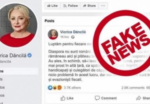 Dăncilă, mesaj după ce pagina de Facebook i-a fost clonată: Ruşine, Klaus Iohannis! Ne priviţi de sus, dar sunteţi jos şi sunteţi mic