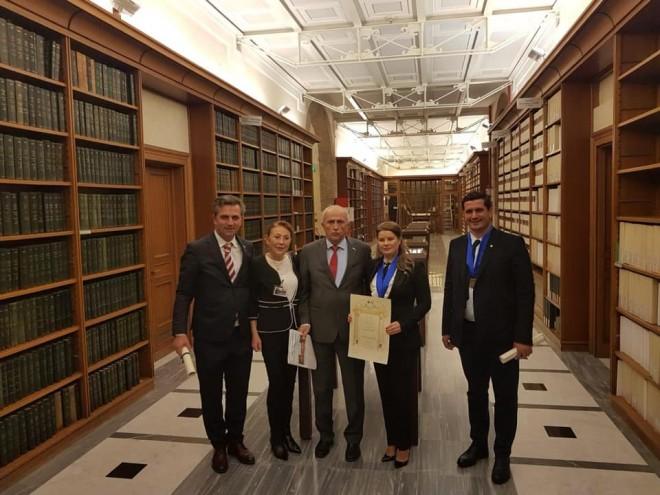Alexandra Bran, viceprimarul orasului Breaza, a devenit membru al Academiei Europene pentru Relații Economice și Culturale, de la Roma