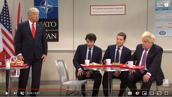 """Iohannis, ironizat in episodul despre culisele NATO al show-ului """"Saturday Night Live"""""""