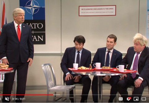 "Iohannis, ironizat in episodul despre culisele NATO al show-ului ""Saturday Night Live"""
