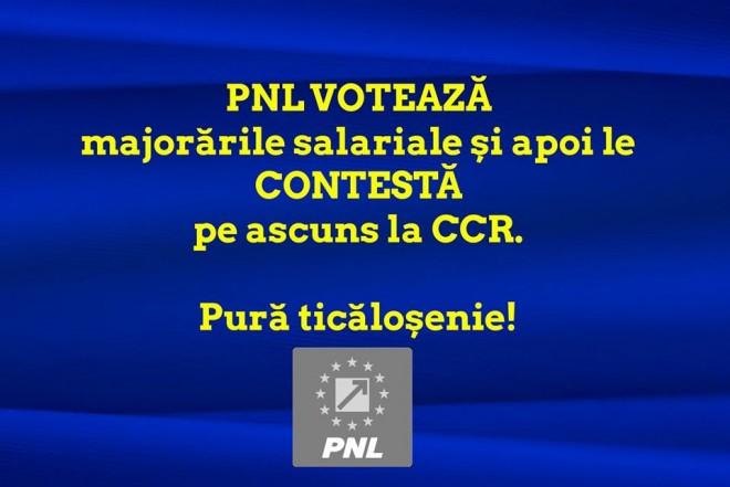 TICALOSIE fara margini! PNL a depus proiect pentru majorarea salariilor, dar l-a CONTESTAT apoi la CCR!