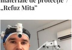"""Medici de la Spitalul din Slatina nu vor banii oferiţi de Klaus Iohannis: """"Să îi folosească pentru cumpărarea de materiale de protecţie""""/ """"Refuz Mita"""""""