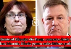 """Ministerul Educației din Franța contrazice datele lui Klaus Iohannis, folosite pentru nedeschiderea școlilor: """"Nu sunt cazuri de infectări în școli"""""""