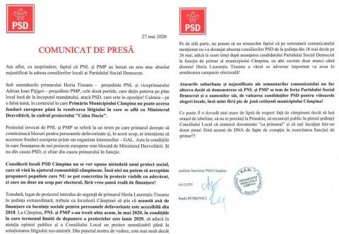 PSD Câmpina, acuzatii dure la adresa PNL si primarului Tiseanu