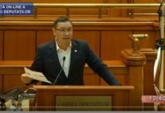 VIDEO - Victor Ponta acuză o 'spălare de bani' la guvernare