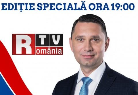 Bogdan Toader, invitat special, diseara, la Romania TV. Presedintele Consiliului Judetean isi va prezenta programul pentru Prahova pentru urmatorii 4 ani