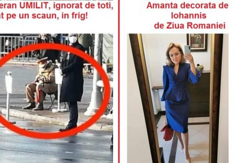 """Romania normala"" a lui Iohannis: Veteran UMILIT, uitat in frig si nebagat in seama. Vanzatoare de detergenti, DECORATA de presedinte, de Ziua Nationala"