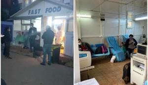 Unde, in orasul lui Iohannis cel mare?! Sibiu: Pacienți COVID tratați într-un chioșc fast-food