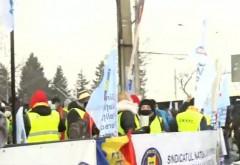 Protest în fața Administrației Prezidențiale. Sindicaliștii sunt nemulțumiți de salariul minim și nivelul pensiilor