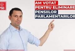 Bogdan Toader, deputat PSD Prahova: Am votat astazi pentru eliminarea pensiilor speciale. Cîțu alocase bani pentru aceste pensii, dar pentru domeniile esentiale, NU!
