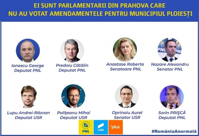 Bogdan Toader, deputat PSD: Cu exceptia lui Mircea Rosca (PNL), niciun parlamentar al puterii nu a votat proiectele propuse de PSD pentru Ploiesti