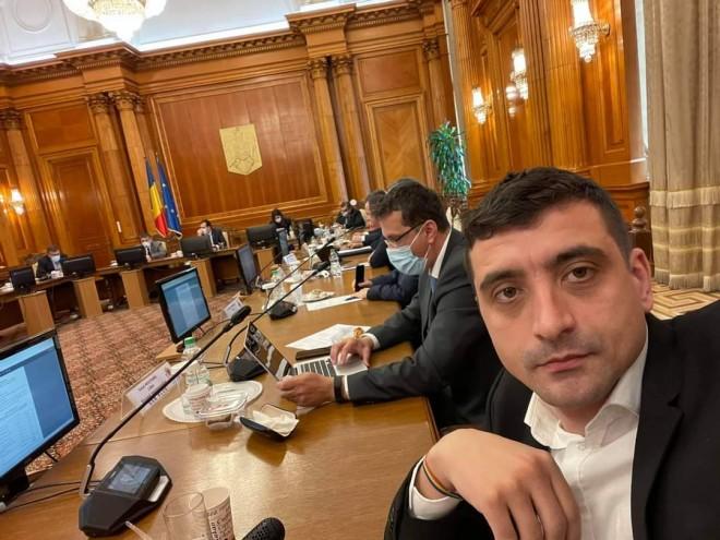 """George Simion cheama românii in stradă si acuză dictatura USR. """"Suntem in sedinta la Parlament si USR ne-a interzis sa vorbim, impotriva regulamentului!"""