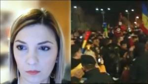 Genial! Iubita lui Cîțu critică Guvernul Cîțu și ia partea manifestanților