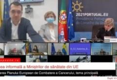 """VIDEO """"Neatenția"""" lui Voiculescu n-a fost prima. Ministrul Sănătății, fără mască, la nici un metru de o colaboratoare, vorbește chiar despre importanța purtării măștii"""