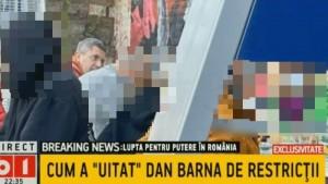 In timp ce romanilor le baga pe gat restrictii, Dan Barna a fost prins la o terasă aglomerată din Capitală, fără mască de protecție, fara distantare
