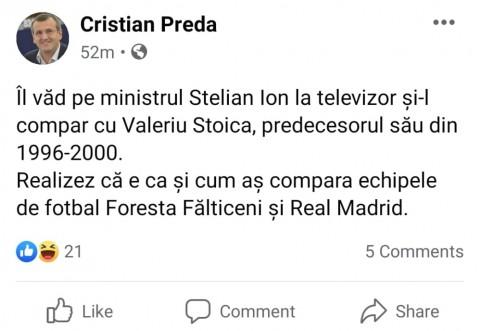 """Stelian Ion, facut praf de colegi: """"Ma uit la acest Stelian Ion si nu imi vine sa cred. E mai desteapta jurnalista decat el"""""""