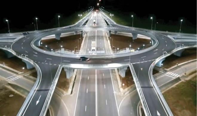 Exemplu de urmat! 8 ani de la demararea constructiei primului giratoriu suspendat din Romania
