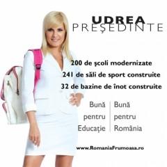 Asa apucaturi, asa slogan... Mesajul electoral al Elenei Udrea, vulgar si adresat barbatilor cu fantezii sexuale