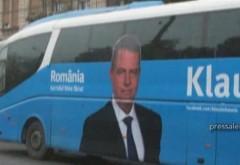 Klaus Iohannis cară oamenii cu autocarul la miting VIDEO