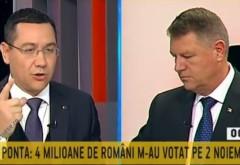 Dezbatere: Ponta replica magistrala pentru Iohannis
