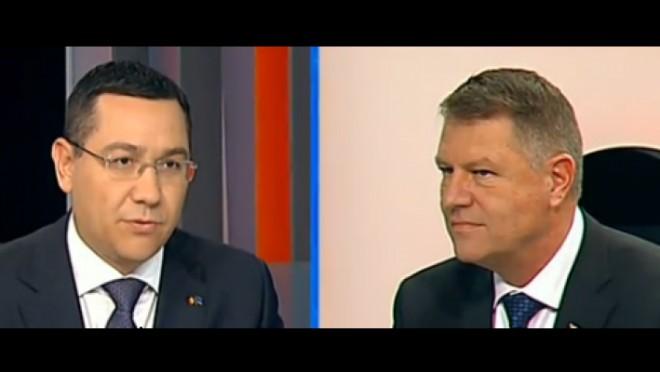DEZBATERE PONTA - IOHANNIS. Klaus Iohannis, nepregătit şi la a doua dezbatere electorală VIDEO