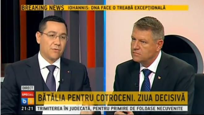 FINALA pentru Cotroceni. Ponta: Iohannis va întoarce România în 2010. Ce părere are Iohannis despre Ponta