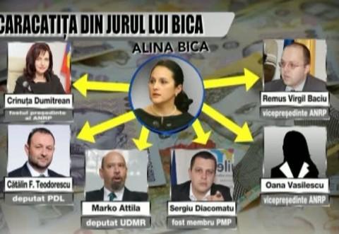 CARACATIŢA dosarului Alinei Bica: apropiaţi ai cuplului Udrea-Cocoş, foşti înalţi funcţionari şi parlamentari
