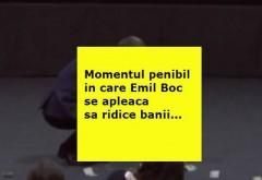 """Un """"manelist"""" a aruncat cu bani în Emil Boc. Primarul s-a aplecat să-i culeagă"""
