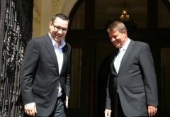 Klaus Iohannis, întâlnire cu Victor Ponta