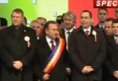 Klaus Iohannis şi Victor Ponta, împreună la Iaşi de Ziua Unirii VIDEO