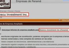 Numele lui Băsescu apare alături de Cocoș într-un paienjeniș de firme în Panama